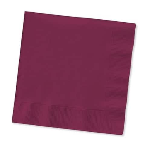 Club Pack of 600 Burgundy 2-Ply Disposable Party Paper Guest Napkins 8""