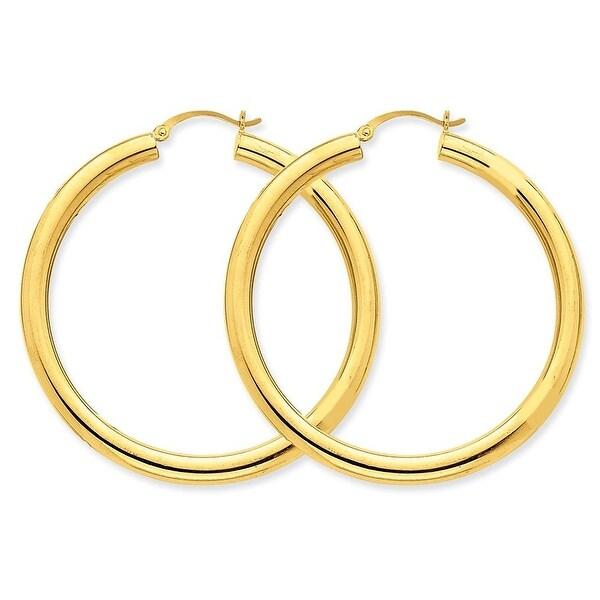 Mcs Jewelry Inc  14 KARAT LARGE YELLOW GOLD CLASSIC HOOP EARRINGS (DIAMETER: 40MM)