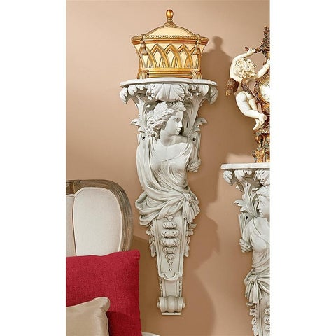 Design Toscano French Baroque Caryatid Facing Right Wall Sculpture
