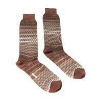 Missoni GM00COU3968 0002 Tan/Brown Knee Length Socks