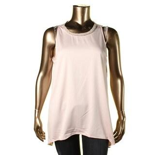 Lauren Ralph Lauren Womens Blouse Embellished Sleeveless - 14