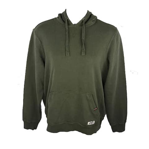 FILA Men's Fleece Pullover Hoodie W Kangaroo Pouch Pocket - Medium