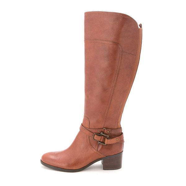 Marc Fisher Womens Kacee Wide Calf Leather Closed Toe Knee High Cold Weather ...