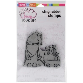 "Stampendous Pink Your Life Cling Stamp 6.5""X4.5""-Papa Christmas"