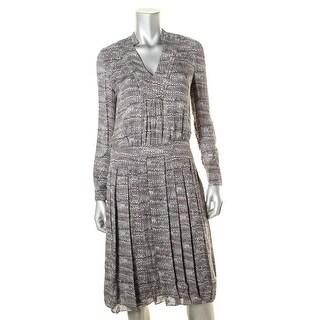 Tory Burch Womens Long Sleevesq Flare Wear to Work Dress - 2