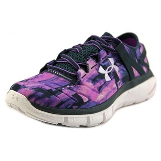 Under Armour Speedform Fortis Men Round Toe Canvas Purple Running Shoe