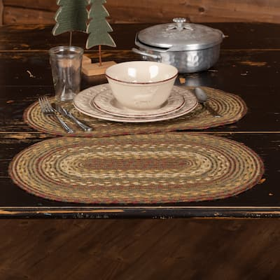 Tea Cabin Jute Placemat Set of 6 12x18 - Placemat 12x18