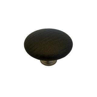 C3388 Pinstripes Knob 1.5 in. Diameter Covered Burnished Brass,