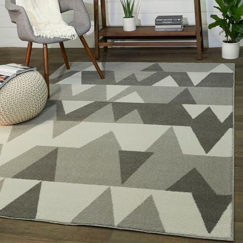 Modern Geometric Contemporary Area Rug