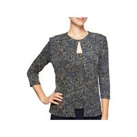 008820159a Shop Eileen Fisher Womens Petites Wrap Top V-Neck Handerkerchief ...