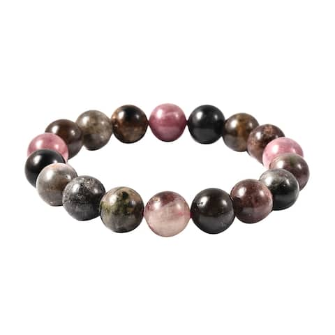 Shop LC Round Multi-Tourmaline Stretchable Elegant Bracelet Ct 580.5