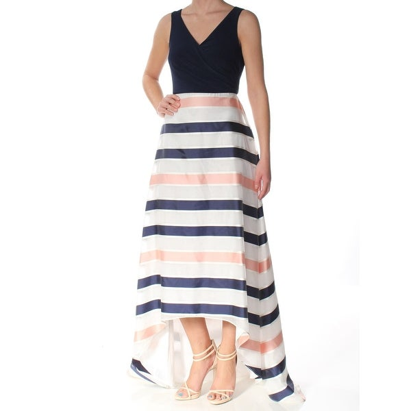 897b52d5 Adrianna Papell Blue White Women's Size 12 High Low Striped Gown