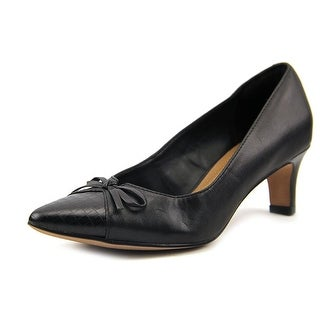 Clarks Crewso Calica Women Pointed Toe Leather Black Heels