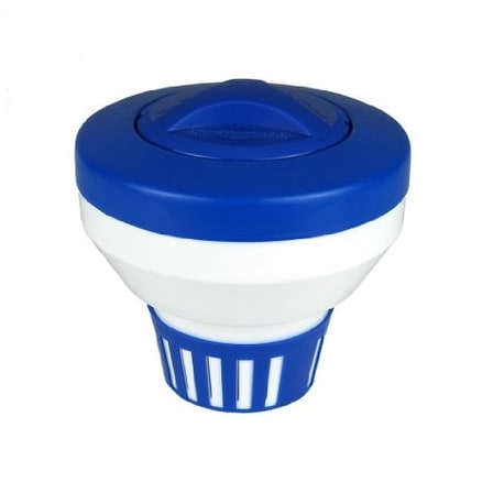 Shop 7 5 Classic Blue And White Floating Swimming Pool Chlorine Dispenser Free Shipping On