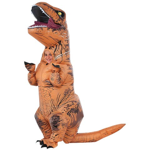 Jurassic World T-Rex Inflatable with Sound Child Costume - Brown