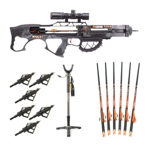 Ravin Crossbows 400 FPS R26 Crossbow (Camo) w/ Stick & Broadheads