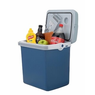 Knox Gear 34 Quart Electric Cooler/Warmer with Dual AC and DC Power Cords (Blue)