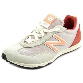 New Balance WL742 Women Round Toe Canvas Sneakers
