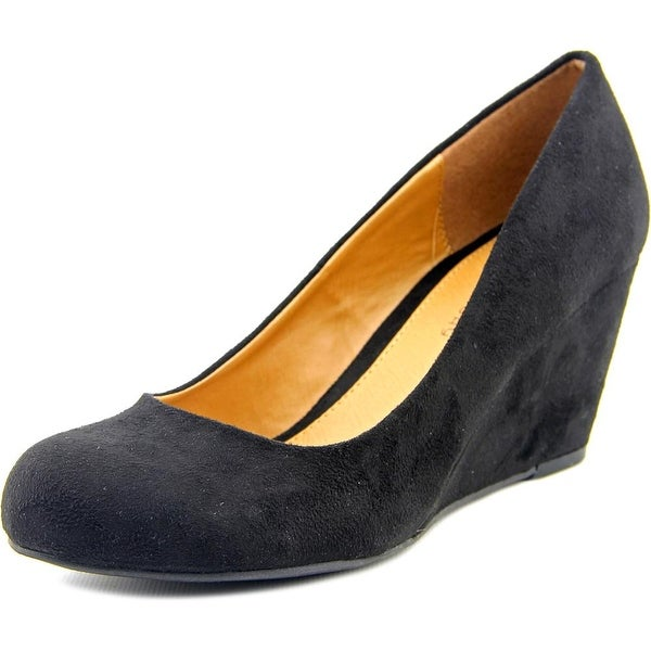 CL By Laundry Nima Women Open Toe Synthetic Black Wedge Heel