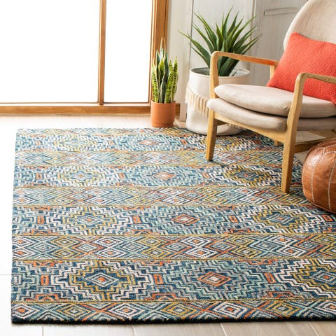 SAFAVIEH Handmade Aspen Agita Bohemian & Eclectic Tribal Wool Rug