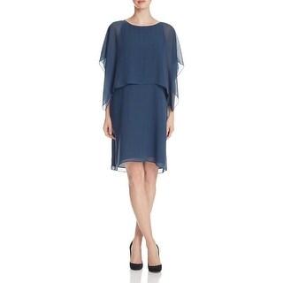 Eileen Fisher Womens Casual Dress Silk Popover
