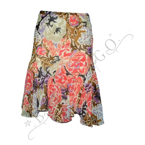 Lauren by Ralph Lauren Petite's $98 Petites' Floral Ruffled Skirt (PS) - Multi-Color - PS