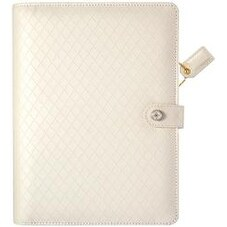 "Diamond White - Color Crush A5 Faux Leather Planner Kit 7.5""X10"""