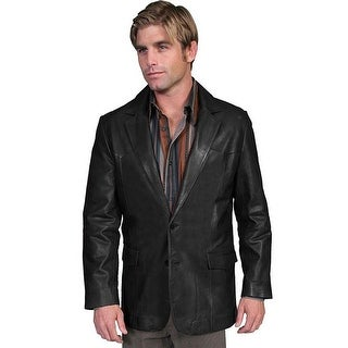 Scully Western Blazer Mens Lambskin Button Back Vent Black 501-198
