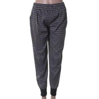 XOXO Womens Casual Pants Printed Flat Front