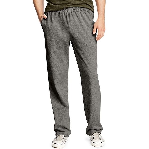 Hanes X-Temp® Men's Jersey Pocket Pant - Size - L - Color - Charcoal Heather
