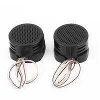Unique Bargains Plastic Shell Car Vehicle Audio Speaker System 500W 97dB Dome Tweeter Black 2pcs