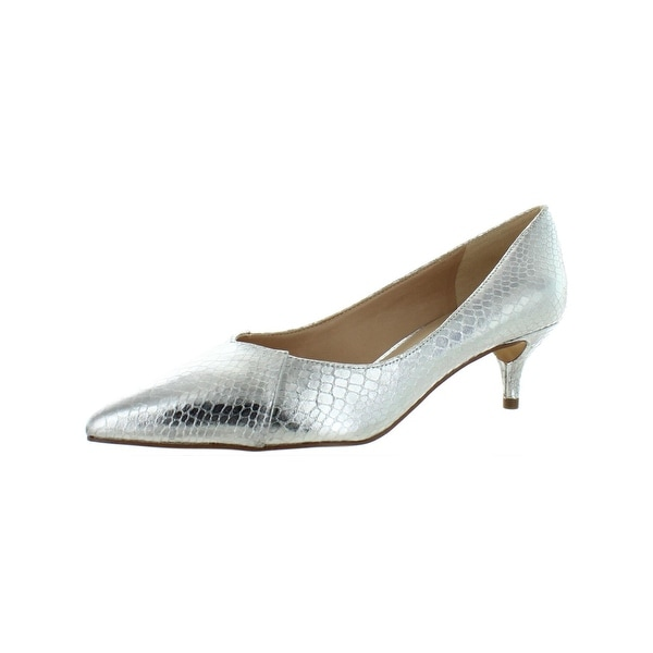 967f2dd54f2 Shop Franco Sarto Womens Donnie Pumps Metallic Kitten Heel - Free ...