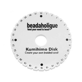Lightweight Kumihimo Round Mini Disc Disk For Japanese Braiding and Cording