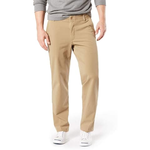 Dockers Mens Khaki Pants Beige 52x32 Big & Tall Smart-360-Flex Stretch