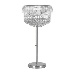 Crystal Halo Modern Orb Table Lamp With Crystal Balls