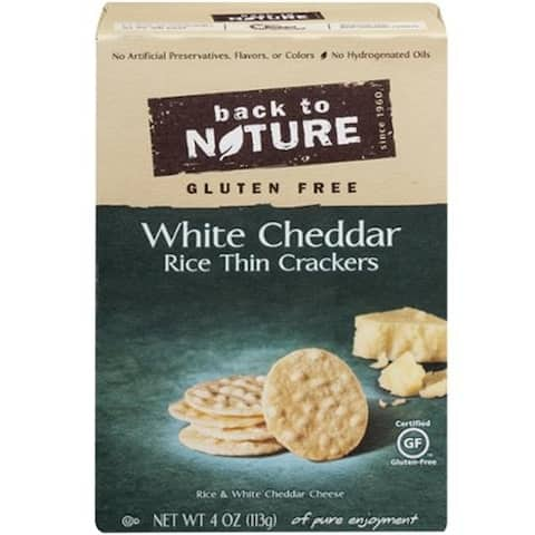 Back To Nature - White Cheddar Rice Thins ( 12 - 4 OZ)