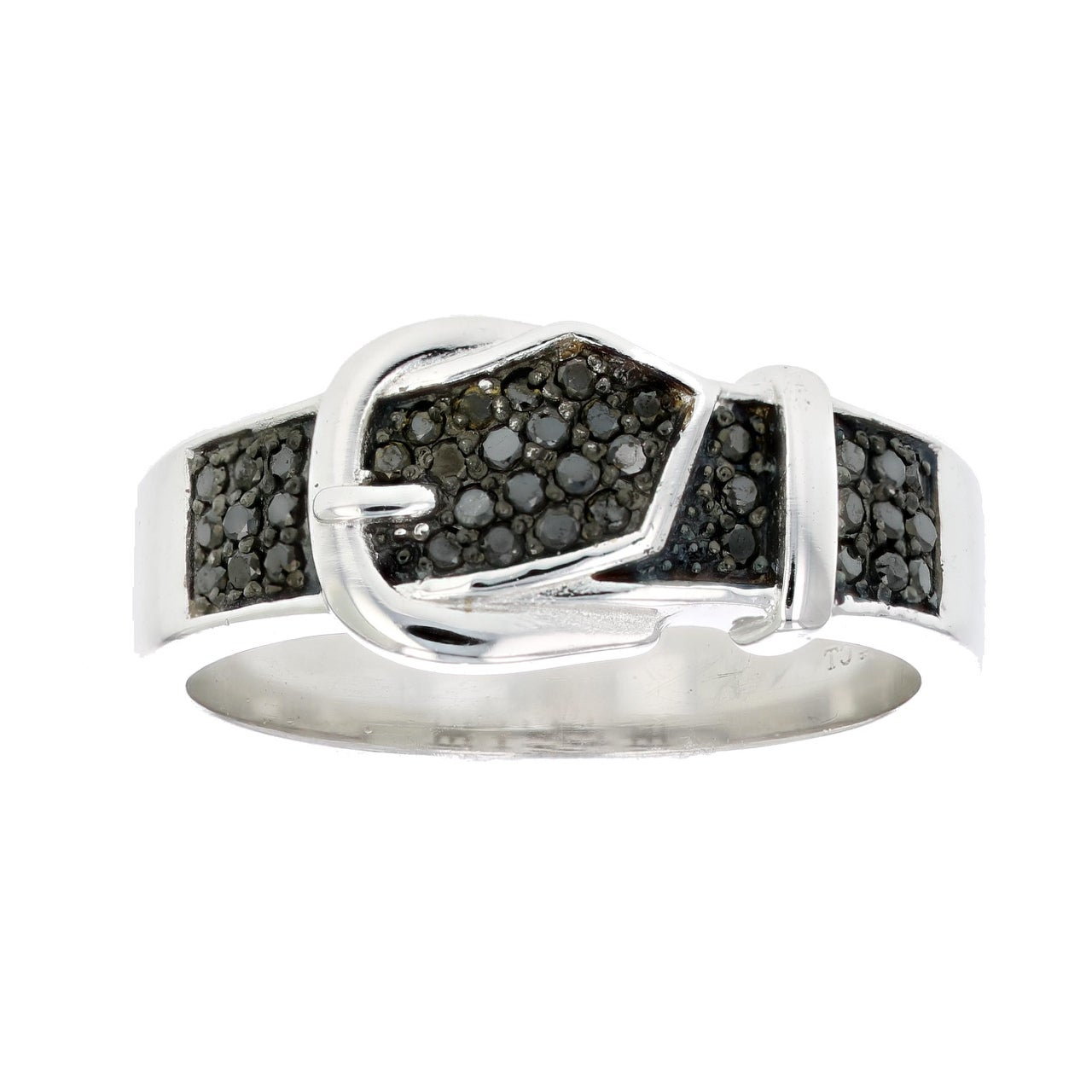 925 Sterling Silver Platinum Yellow Diamond Buckle Ring Gift Jewelry for Women