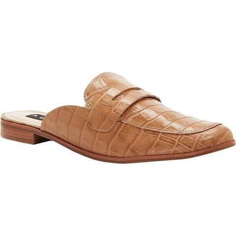 Aqua Womens Gina Penny Loafers Leather Flats