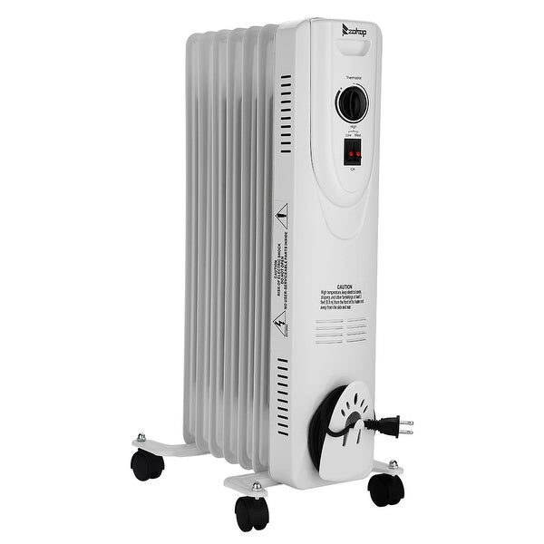 Oil-Filled Radiator Space Heater, Quiet 1500W, Adjustable Thermostat, 3 Heat Settings, Energy Saving. Opens flyout.