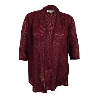 JM Collection Women's 3/4 Sleeves Open Front Cardigan