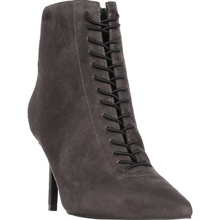 KENDALL + KYLIE Liza Lace Up Booties, Dark Grey