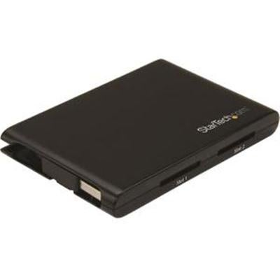 Startech Dual-Slot Sd Card Reader/Writer - Usb 3.0 - Sd 4.0, Uhs Ii - Portable Sd/Sdhc, Black