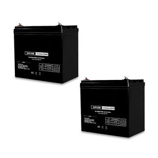 Replacement Deep Cycle AGM SLA Battery 12V-50Ah (2-Pack) Replacement Deep Cycle AGM SLA Battery