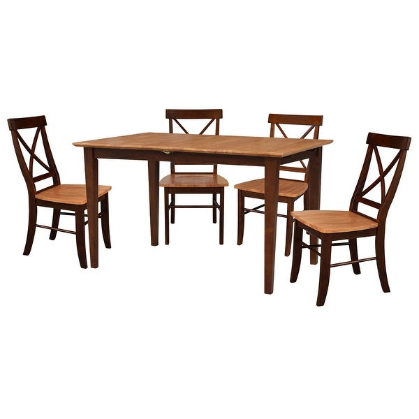 Counter Height Cinnamon/ Espresso 5-piece Dining Set. Opens flyout.