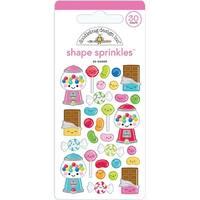 Doodlebug Sprinkles Adhesive Glossy Enamel Shapes-So Sweet, 30/Pkg