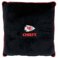 NFL Kansas City Chiefs Licensed Pillow. Comfortable, Soft-Plush Top-Quality for Pets, Kids, Sofa