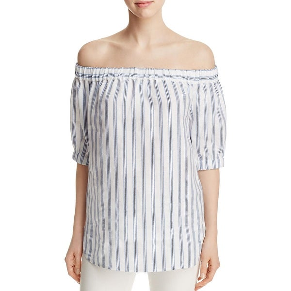 321083ab3b Shop MICHAEL Michael Kors Womens Casual Top Linen Striped - Free ...