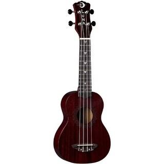 Luna Guitars Vintage Mahogany Soprano Ukulele (Red Satin)