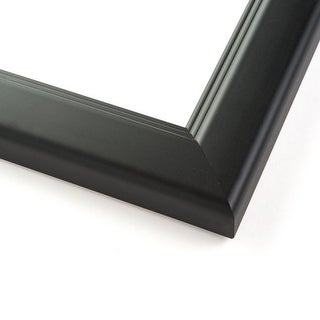 49x18 Modern Black Wood Picture Frame - With Acrylic Front and Foam Board Backing - Modern Black (solid wood)