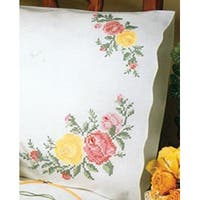 "Rose Classic - Stamped Pillowcase Pair For Embroidery 20""X30"""